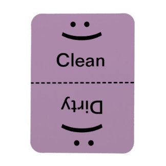 Clean Dirty Magnet Lt. Purple (Smile/Frown)
