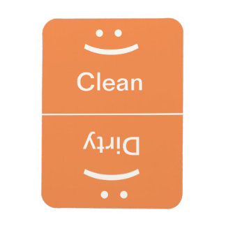 Clean Dirty Magnet - Orange - (Smile/Frown)