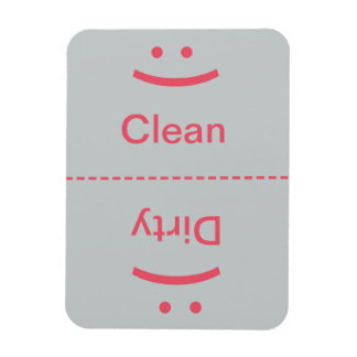 Clean Dirty Magnet - Pink/Gray - (Smile/Frown)
