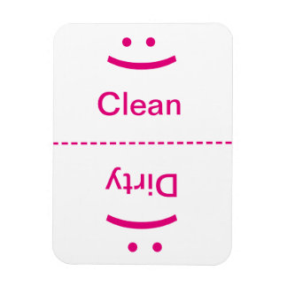 Clean Dirty Magnet - Pink - (Smile/Frown)
