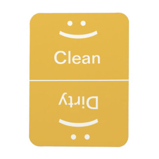 Clean Dirty Magnet - Yellow - (Smile/Frown)
