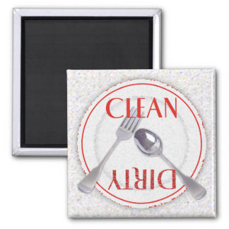 Clean/Dirty Plate 2 Inch Square Magnet