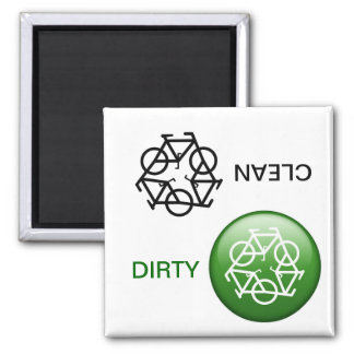 """CLEAN / DIRTY"" Re-Cycle Dishwasher Magnet"