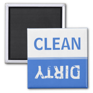 Clean Dirty Sapphire Blue Dishwasher Magnet