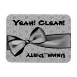 Clean Dirty Silver Bow Dishwasher W1416 Vinyl Magnet