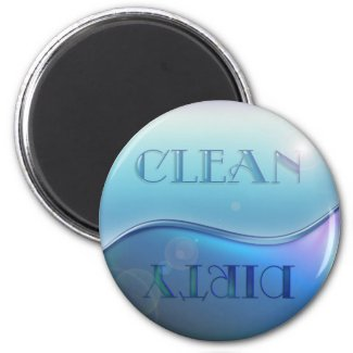 Clean Dirty Soap Dishwasher Magnet