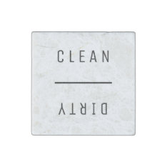 Clean Dirty Stone Magnet at Zazzle