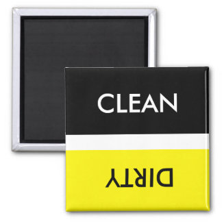 Clean Dirty Yellow White Black Magnet
