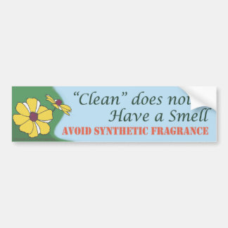 """Clean"" does not smell Car Bumper Sticker"