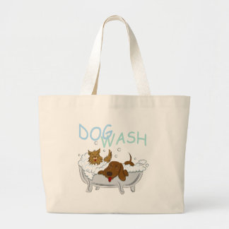 Clean Dogs Wash Large Tote Bag