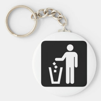 Clean Earth! Ecology products! Basic Round Button Keychain
