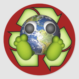 Clean Earth - Recycle Classic Round Sticker