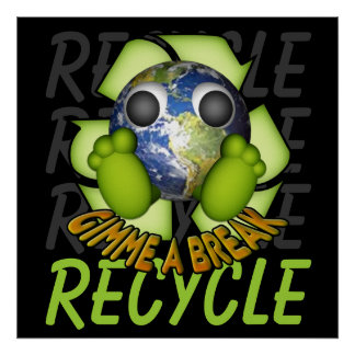 Clean Earth - Recycle Print