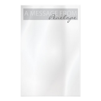 Clean Elegant Pale Gray Notepad Stationery