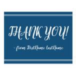 "[ Thumbnail: Clean, Elegant ""Thank You!"" Postcard ]"
