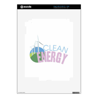 Clean Energy Decals For iPad 2