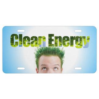 Clean Energy Ecofriendly License Plate