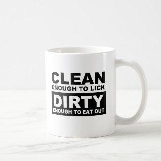 CLEAN ENOUGH TO LICK COFFEE MUG