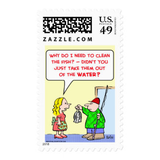 clean fish water postage