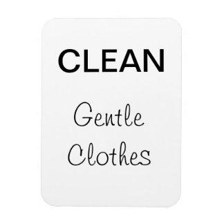Clean - Gentle Clothes Rectangular Photo Magnet