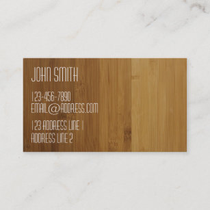 Bamboo wood business cards templates zazzle clean golden bamboo look business card colourmoves