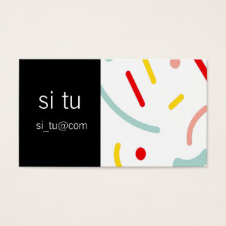 Clean graphic business card and sets