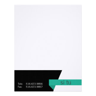 Clean graphic business sets letterhead