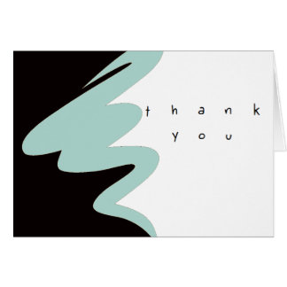 Clean graphic thank you business sets card