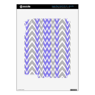 Clean Gray Chevron Humps Decals For iPad 3