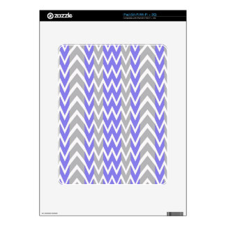 Clean Gray Chevron Humps Skins For iPad