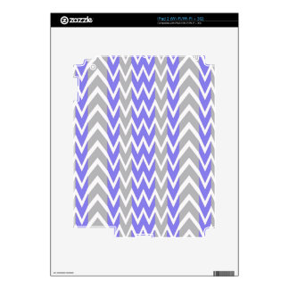 Clean Gray Chevron Humps Skins For The iPad 2