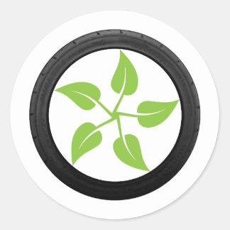 Clean Green Power Round Sticker