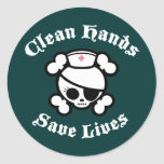 Clean Hands Save Lives Stickers