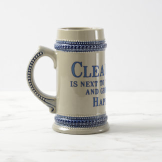 Clean Happy Place Beer Stein