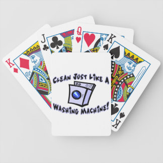 Clean Just Like A Washing Machine Bicycle Playing Cards