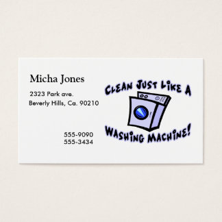 Clean Just Like A Washing Machine Business Card
