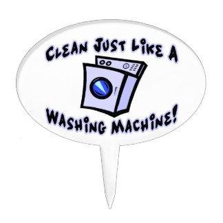 Clean Just Like A Washing Machine Cake Topper
