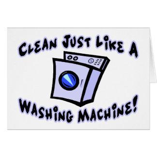 Clean Just Like A Washing Machine Card
