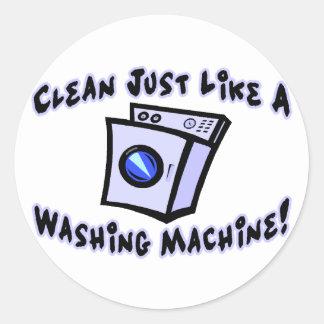 Clean Just Like A Washing Machine Classic Round Sticker