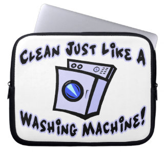 Clean Just Like A Washing Machine Laptop Sleeve