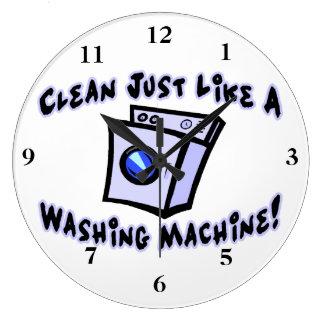 Clean Just Like A Washing Machine Large Clock