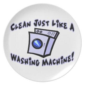 Clean Just Like A Washing Machine Plate