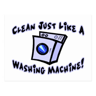 Clean Just Like A Washing Machine Postcard