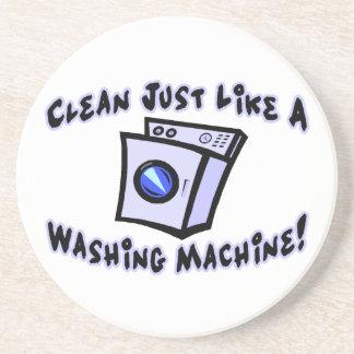 Clean Just Like A Washing Machine Sandstone Coaster