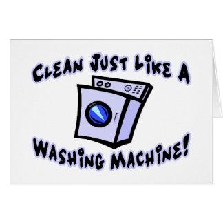 Clean Like A Washing Machine Card