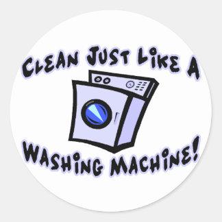 Clean Like A Washing Machine Classic Round Sticker