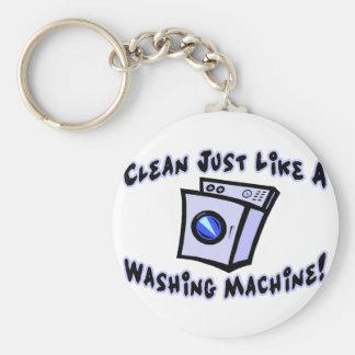 Clean Like A Washing Machine Basic Round Button Keychain