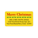 "[ Thumbnail: Clean ""Merry Christmas"" Address Label ]"