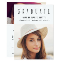 Clean & Modern 2 Photo Graduation Invitation