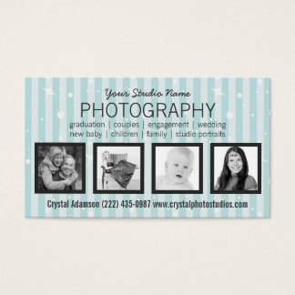 Clean Modern 4 Photos Any Profession Business Card